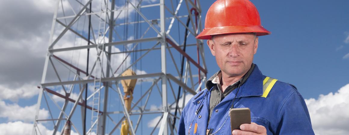 Multitasking Oil Worker